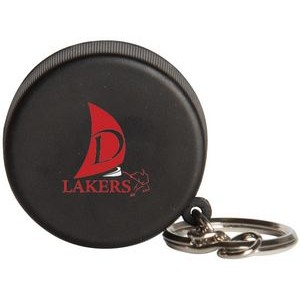 Hockey Puck Squeezies® Stress Reliever Keychain