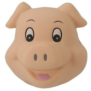 Cute Pig Head Squeezies® Stress Reliever