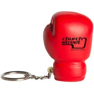 Boxing Glove Squeezies® Stress Reliever Keychain