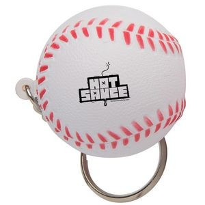 Baseball Squeezies® Stress Reliever Keychain