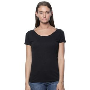 Viscose Bamboo & Organic Cotton Scoop Neck T-Shirt