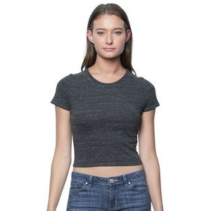 Women's Eco Triblend Crop Tee Shirt